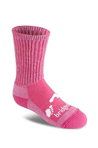 Bridgedale - Calzini termici per bambini, 2 pezzi, misura L, colore: Rosa