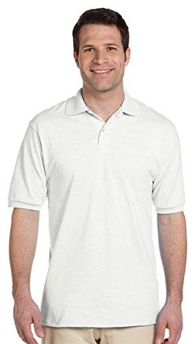 Jerzees Herren Poloshirt 50/50 mit SpotShield, 437, Weiß, 437 56