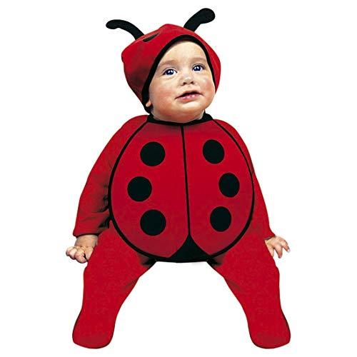 Adorable disfraz para bebe mariquita | Rojo-Negro en talla 75 - 80 cm, 0 - 6 meses | Adorable disfraz de escarabajito para niños pequeños | Excelente elección para carnavales infantiles y carnavales