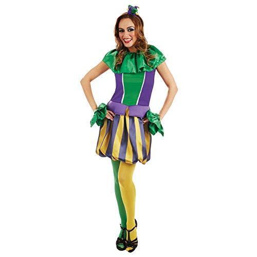 Fun Shack Grünes Gaukler Kostüm für Damen - Mittel