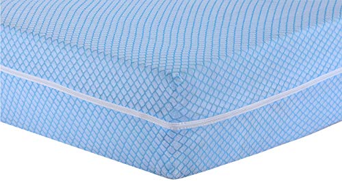 MIA we dress your home Diamond Mattress Cover full zip encasement King size bed Matress protector topper