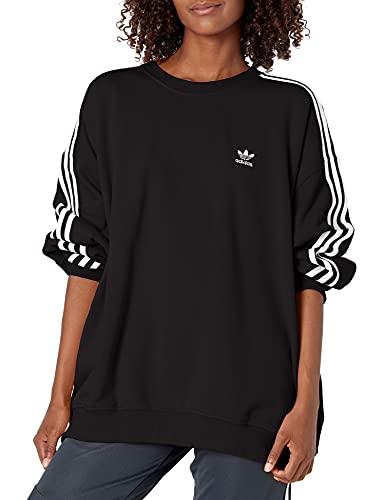 adidas Originals Women's Adicolor Classics Oversized Sweatshirt, Black, X-Large