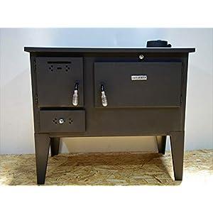 Horno de cocina de leña de combustible sólido para cocina de 7,5 kw patas