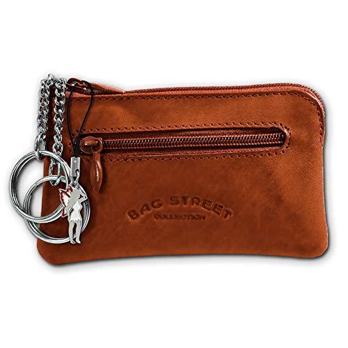 SilberDream DrachenLeder Unisex Schlüsseltasche Etui Geldbörse braun Leder 10x0.5x6cm OPJ900N Leder Schlüsseltasche