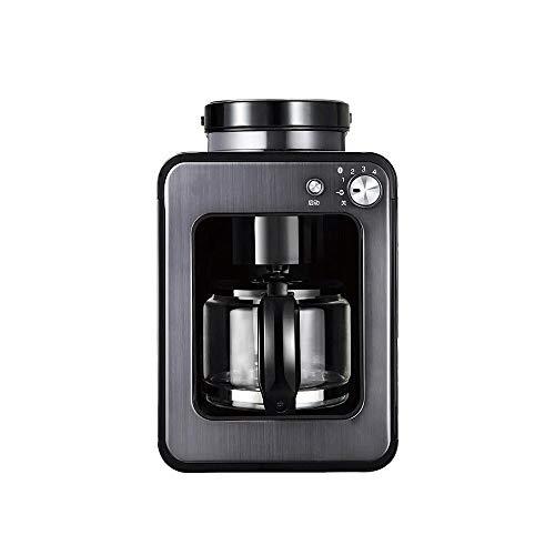 Z-Color Grano a la Taza del Filtro de la máquina de café instantáneo, Cafetera con Burr Grinder Integrado de Grueso y Opciones de molienda Fina, con el Filtro Reutilizable (Color : Black)