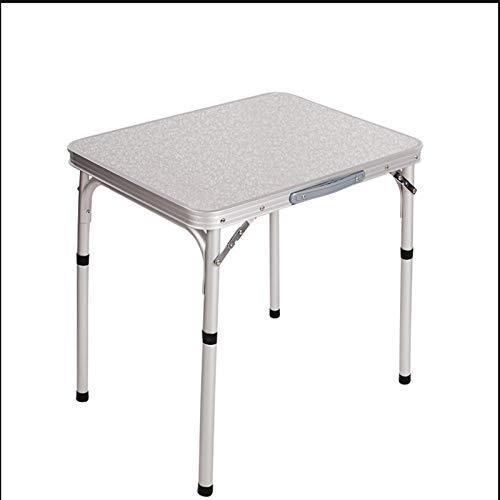 BMNN Mesa de Barbacoa Plegable para Picnic, Mesa pequeña fácil de Aprender, aleación de Aluminio, Adecuada para Exteriores, Sala de Estar, etc, Disponible en Dos tamaños Mesa Altura Ajustable