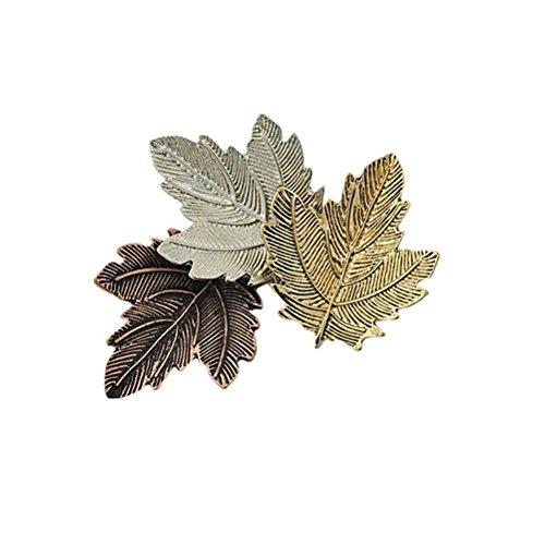 WINOMO Broche rétro avec feuille d'érable Design broche pour vêtements bijoux Corsage chapeau