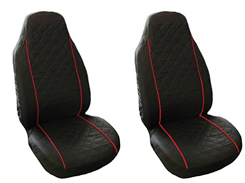 Funda de asiento para Volkswagen VW Golf Passat 2 3 4 5 Sharan Bora Polo Caddy, color negro y rojo