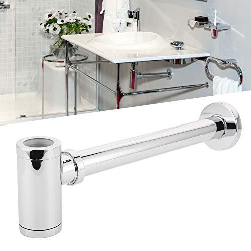 Juego de drenaje de trampa de desechos, fácil de instalar Función anti-obstrucción Trampa de botella de sifón Material de acero inoxidable Interior liso para el hogar para el baño