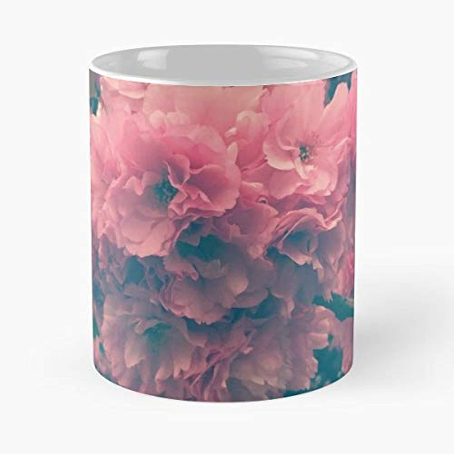 Floral Flowers Pink Eranglero - 11 Oz Coffee Mugs Unique Ceramic Novelty Cup, The Best Gift For Holidays.