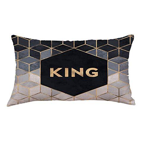 Hunpta @ Kissenbezug 30x50 cm - Kreativ Geometrie Muster Kissenhüllen Kopfkissenbezug für Wohnzimmer Schlafzimmer Kinderzimmer Sofa Dekor Home Dekorative Zierkissenbezüge mit Reißverschlüsse