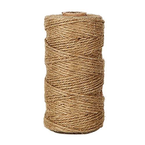 mogist 100m Marrón Cuerda de Yute Natural de yute (cuerda Manualidades para DIY Manualidades Cordeles etiquetas Jardín imágenes regalo del paquete