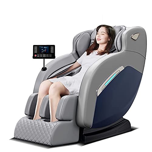 JLKDF Sillón de Masaje, sillón de Masaje de Gravedad Cero, sillón reclinable de Cuerpo Completo, sillón de Masaje eléctrico con Varios programas de Masaje, Sonido Envolvente 3D, Bluetoot