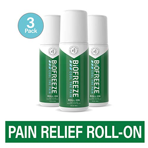 Biofreeze Pain Relief Roll-On, 3 oz. Roll-On, Fast Acting, Long Lasting, & Powerful Topical...