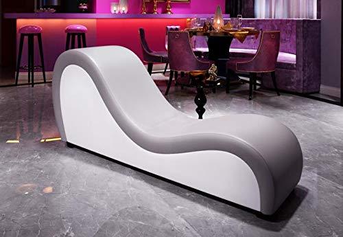 JV Möbel Relaxliege Sofa Chaiselounge Liege Tantra Couch Sessel Designerliege Kunstleder Recamiere XXL - 186 cm