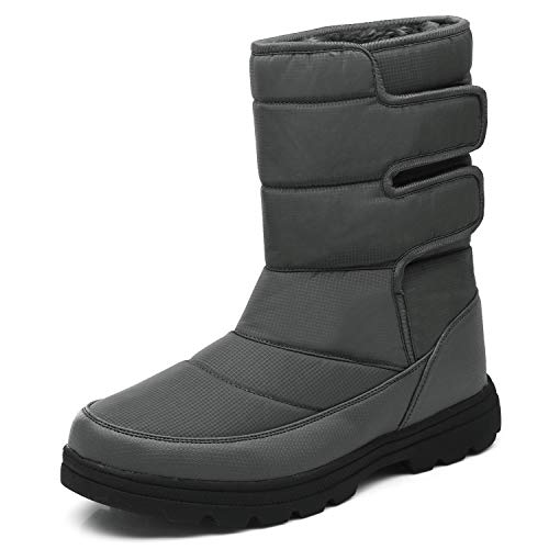 YIRUIYA Mens Boots Waterproof Insulated Warm Outdoor Ski Winter Snow Boots