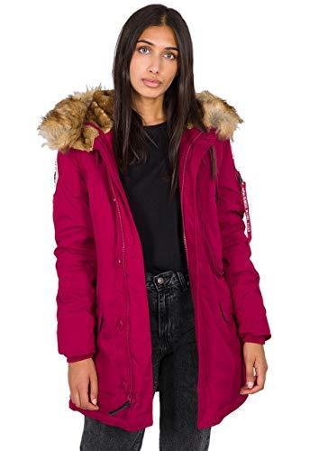 ALPHA INDUSTRIES Damen Polar Jacket Wmn Weste, Dunkelrot, XL