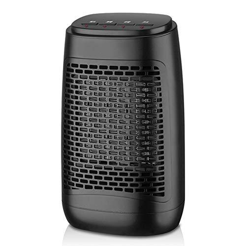 WYW 1200W Mini Compacto Calefactor termoventilador,con 2 Niveles de Potencia,Sistema de Seguridad,Muy Adecuado para Escritorios,Posiciones de Calor,silencioso Termostato Ajustable,2