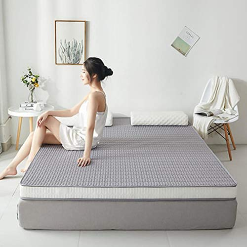 QWF Double Mattress King Size Waterproof Bed Foldable Small Tatami Mat Thick Cot Latex Filling