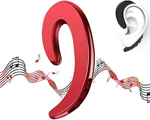 2021 Latest Modern Sound Bone Conduction Hook Earphone,Wireless Bone Conduction Headphones4.2.Ear Wireless Waterproof Stereo Bone Conduction Headphone for Sport Swimming (Red)