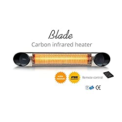 veito Blade Wall Mount Patio and Home Heater - Electric Infrared Heater for Indoor and Outdoor Use - Safe Wall Mount, Vertical Mount or Ceiling Mount Home Heater - 1500W (Silver)