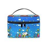 Kosmetiktasche Snoopy Heart Tragbare Reise-Make-up-Tasche Cosmetics Organizer...