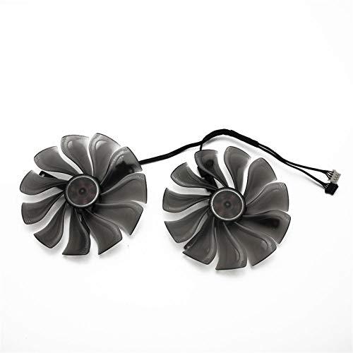 95mm GAA8S2U 4Pin Cooler Lüfter Ersetzen Für Palit GeForce RTX 2070 2080 RTX 2070 Für Gamerock RTX 2080 Für Jetstream Graphics Card Fan (Blade Color : 2PCS)