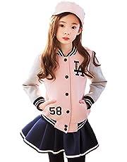BAJIAN 韓国子供服 セットアップ 長袖 シャツ+ズボン スカート レイヤード 上下セッ ト 2点セット 女の子 キッズ 秋冬 子ども