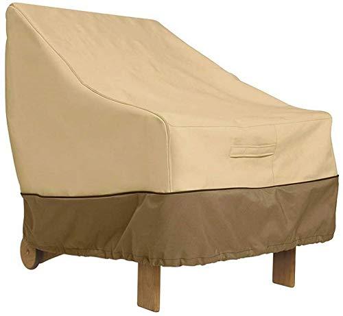 GJJSZ Fundas para sillas de jardín con Asiento Profundo,Impermeables,Tela Oxford 420D,para terraza,Muebles con Respaldo Alto,Protector de Silla para sofá reclinable para Patio