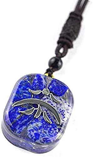 ZGYFJCH Co.,ltd Collar Collar Regalos Colgante Collar Piedras de Cristal Resina Joyas Collar Resina Chakra Colgante Collar Unisex