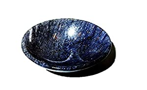 """Jet Natural Blue Aventurine Bowl 2"""" Gemstone A+ Hand Carved Crystal Altar Healing Free Booklet Crystal Therapy IMAGE IS JUST A REFERENCE."""