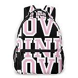 Bokueay Victoria Secret Love - Mochila informal rosa, mochilas ligeras de moda para regalos para niños