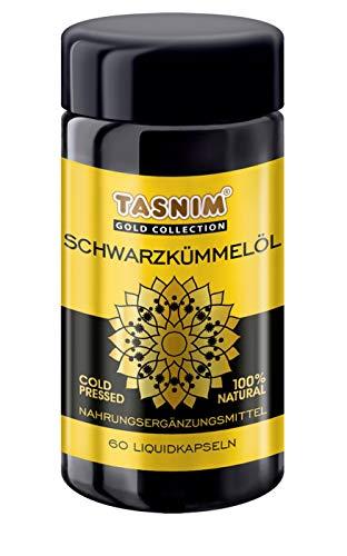 Schwarzkümmelöl Kapseln Tasnim kaltgepresst aus äthiopischen Samen 60 Kapseln Fischgelatine