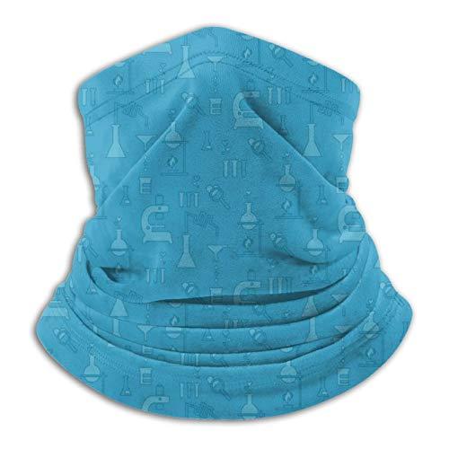 pengyong Chemie-Test Blau Halswärmer Winter Sturmhaube Bandana Winddicht Neck Gaiter Schal Face Cover Neckwear Kopfbedeckung für Skifahren Motorrad