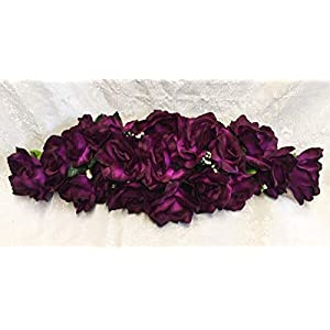 LINESS for 2 ft Artificial Roses Swag Silk Flowers Wedding Arch Table Runner Centerpiece DIY LINESS for Wedding Flowers, Petals & Garlands Floral Décor – Color is Purple