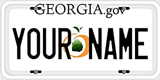 BleuReign(TM) Personalized Custom Name Georgia State Car Vehicle License Plate Auto Tag (ALL STATES AVAILABLE)