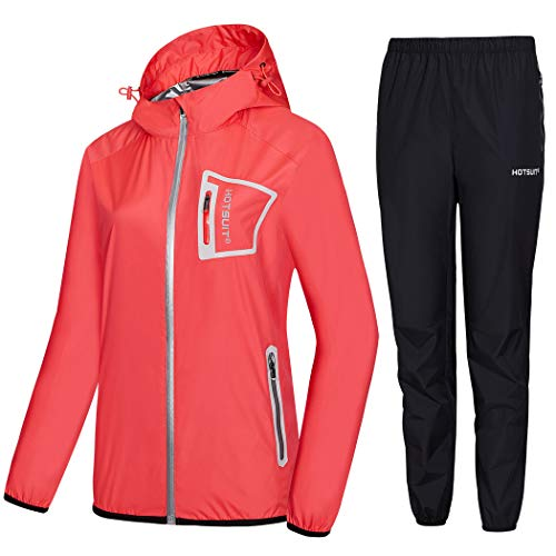 HOTSUIT Sauna Suit Women Weight Loss Durable Boxing Sweat Suits Workout Jacket, Pink, XL