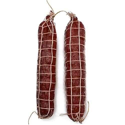 2 salamis de decoración en red de 25 cm, de plástico, para embutidos, carne, fiel al original