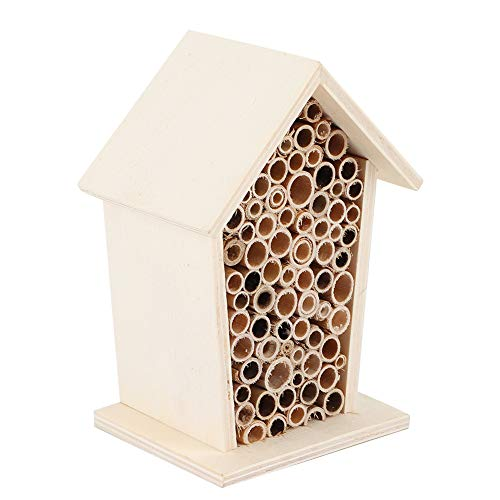 Bee House, Bee Nesting, Beautiful Exquisite Workmanship Safe and Non-Toxic Decorate Gardens for Bees Backyard Insects