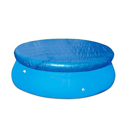 Cubierta para piscina hinchable, protección para piscina redonda y rectangular, antipolvo y antilágrimas, apta para la mayoría de las piscinas (redonda, 244 x 244 cm)