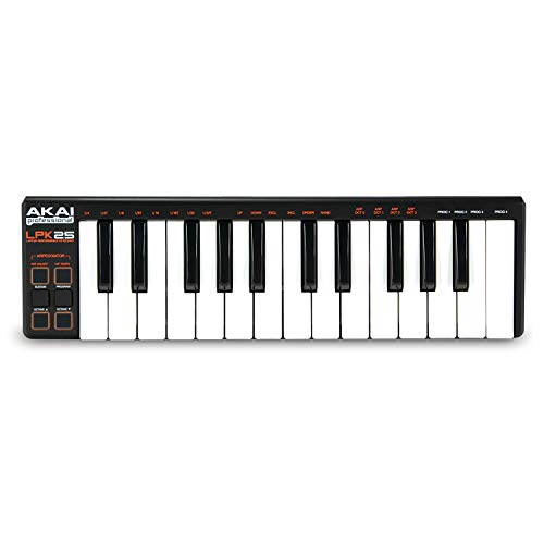 in budget affordable AKAI Professional LPK25 | USB powered MIDI keyboard with synthesizer keys that depend on the speed of the 25 …