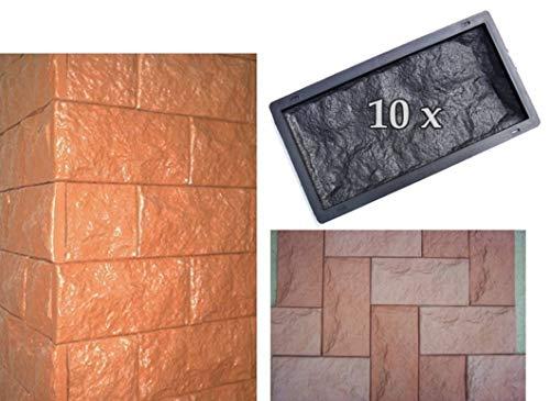 BETON-ABC - 10 Schalungsformen für Wandklinker, Verblender-Schieferstruktur 320/3