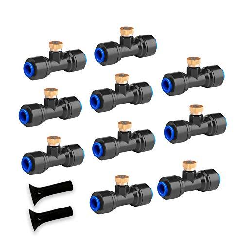 havit Ugello Nebulizzatore 10 Pezzi, Ugello Nebulizzatore in Ottone per Nebulizzatore Esterno per Terrazza