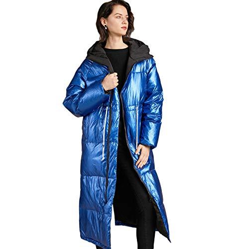 Mujer Abrigo Largo Cálido Chaqueta De Invierno con Capucha,