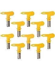 Uitgebreid Yellow Series 5 Airbrush Nozzle for Het Schilderen Airless Paint Spray G un Tip Powder Coating Portable verfspuit auto repair tool Afneembaar