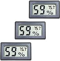 Weewooday 2 Pieces Digital Reptile Thermometer Hygrometer with Probes Terrarium Reptile Humidity Gauge Indoor Outdoor Digital Pet Temperature and Humidity Gauge for Reptiles Terrarium Pet Keeping