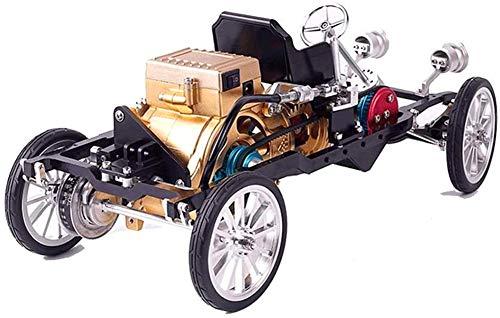 WDLY Ganzmetallhandwerker Mini Einzylindermotor Elektroauto Modell, 3D-Metall-Hand-Versammlungs-Modell Beginnen Können Bausteine, Spielzeug, Lehr Moulds, Schöne Geschenke