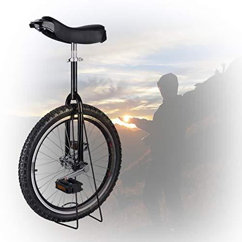 GAOYUY Kinder-Einrad, 16/18/20/24 Zoll Rahmen rutschfeste Butyl Mountain Reifen Balance Radsportübung Radsport Im Freien Einfach Zu Montieren (Color : Black, Size : 18 inch)