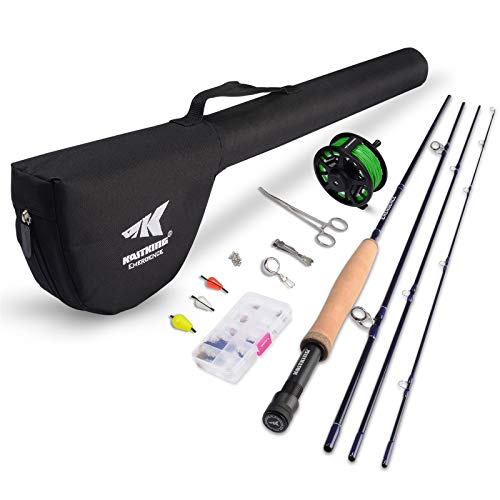 KastKing Emergence Fly Fishing Combo,4 Wt,8ft 6in, Half Handle ,Rod (8+1),3 or 4 Reel