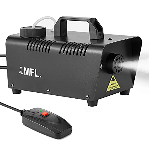 MFL. Fog Machine, Portable Smoke Machine with Wired Controller and Auto Spray Button for Stage, Disco, Halloween and…